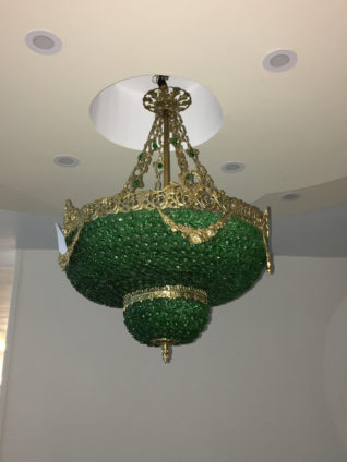 Zitaville home green crystal and bronze empire style chandelier green crystal and bronze empire style chandelier aloadofball Choice Image
