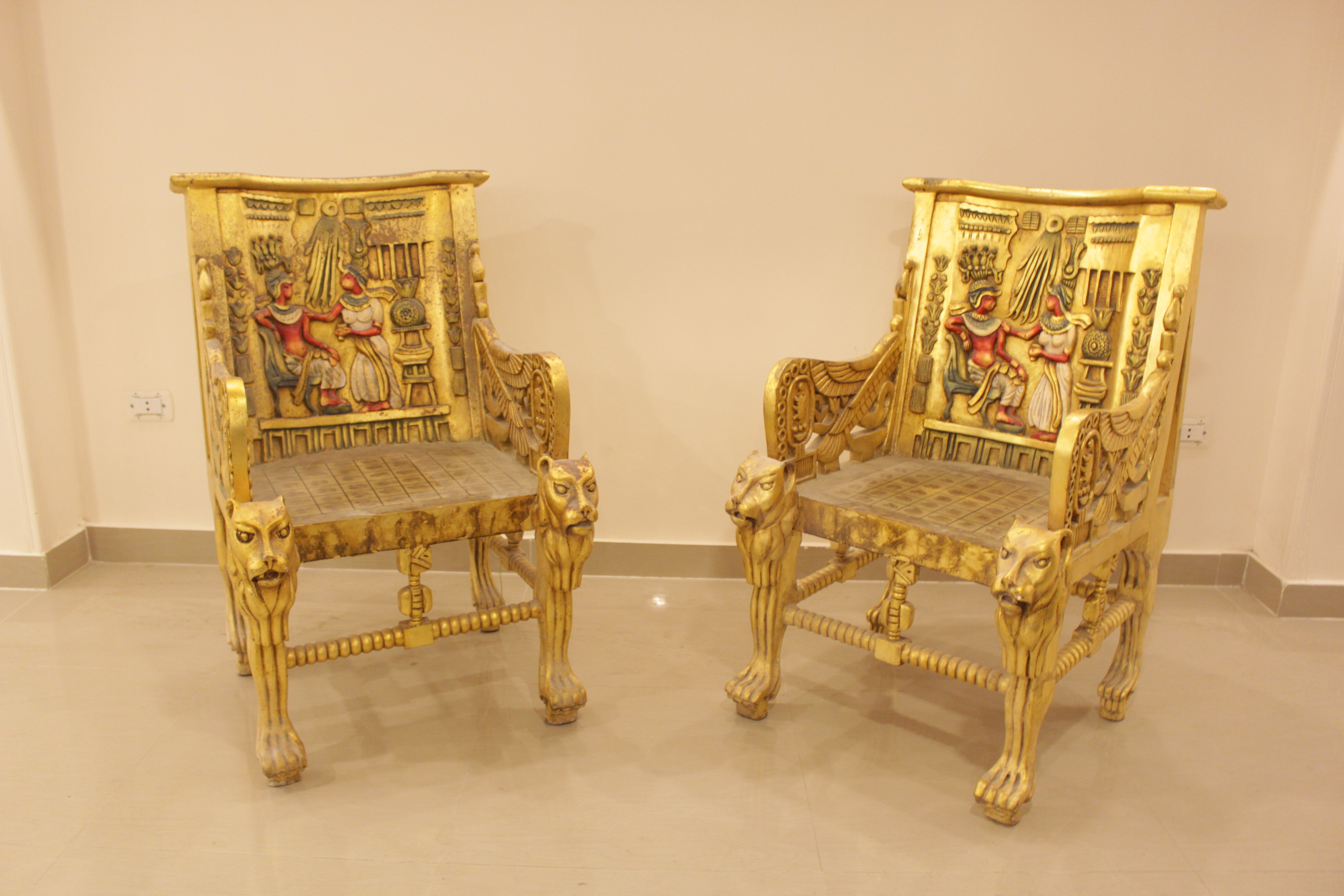 Gilded Empire Pharaonic Chair